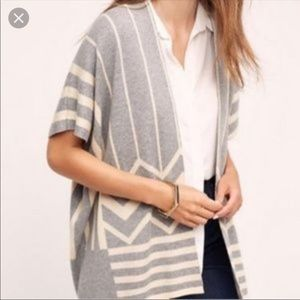 Anthropologie Grey and White Sweater